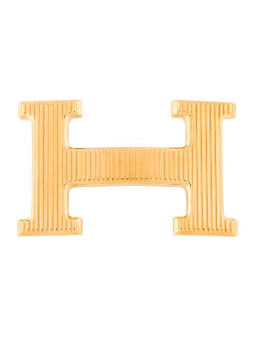 Hermès Strié H Belt Buckle gold