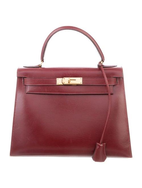 Hermès Vintage Kelly Sellier 28 Rouge