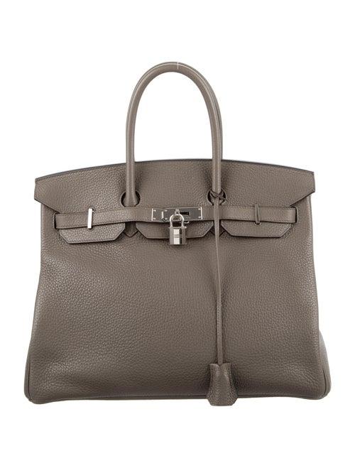 Hermès Clemence Birkin 35 Grey