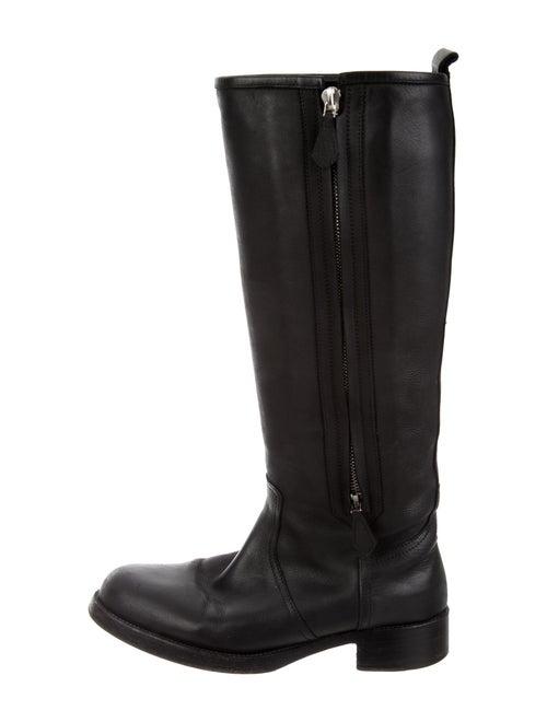 Hermès Leather Riding Boots Black