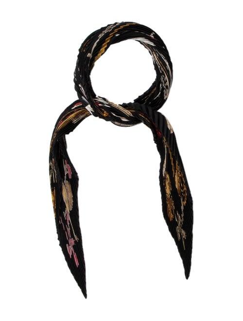 Hermès La Danse Silk Plissé Scarf Black