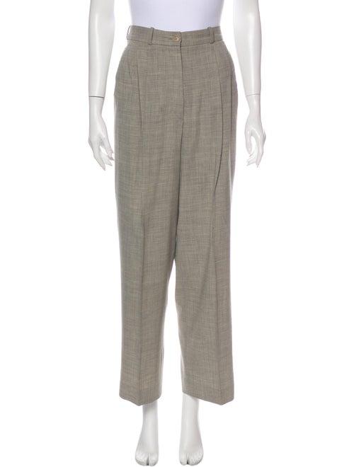 Hermès Wool Wide Leg Pants Wool