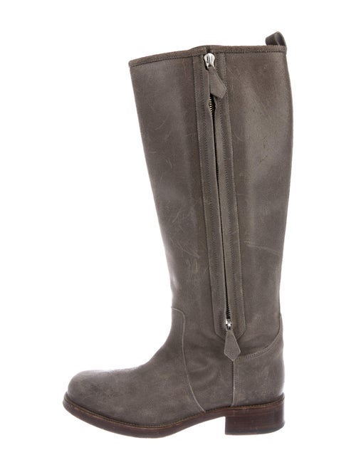 Hermès Leather Riding Boots Suede Riding Boots Gre