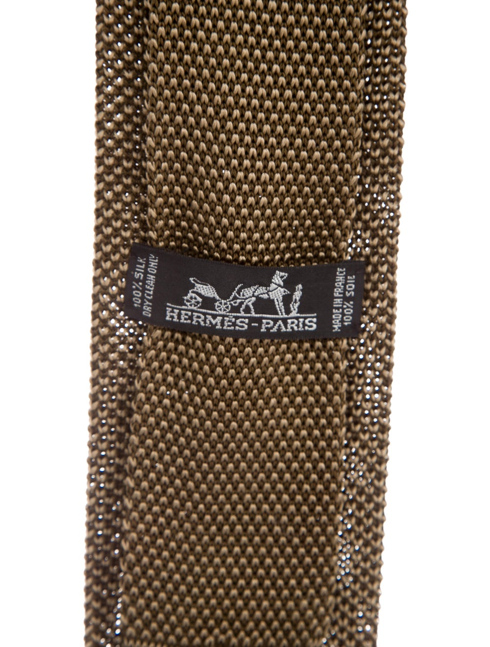 Hermès Knit Silk Tie beige - image 2