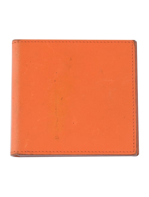 Hermès Leather Compact Mirror orange