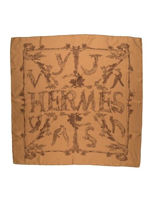 Hermès Alphabet 3 Silk Scarf