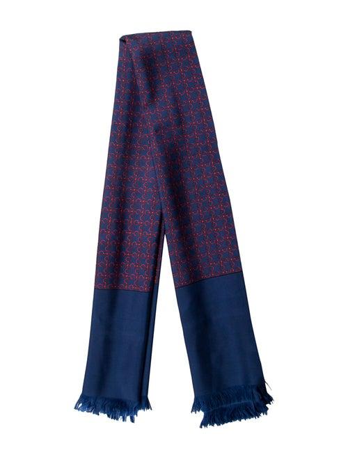 Hermès Vintage Silk Scarf navy