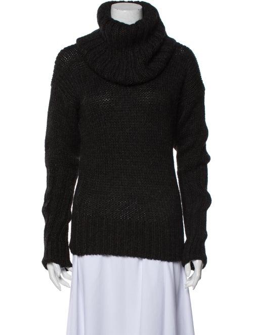 Hermès Alpaca Turtleneck Sweater Grey