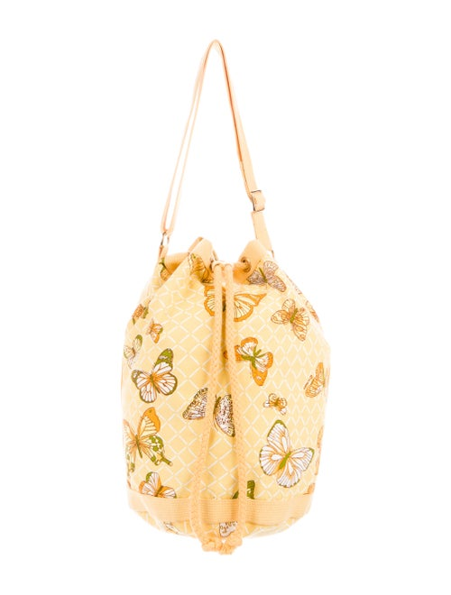 Hermès Vintage Toile Beach Bag Yellow
