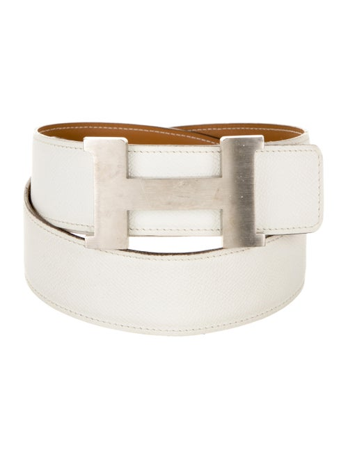 Hermès Reversible Constance 38Mm Belt Kit Blanc
