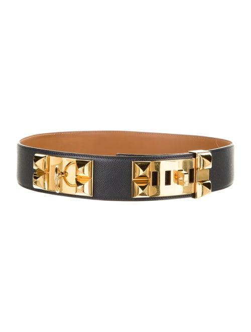 Hermès Vintage Collier de Chien Belt Black