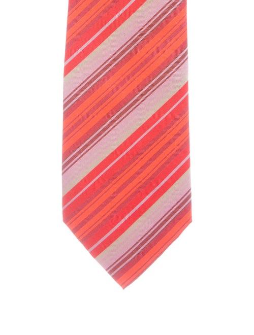 Hermès Printed Silk Tie orange