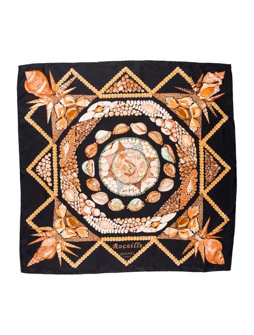 Hermès Rocaille Silk Scarf Black