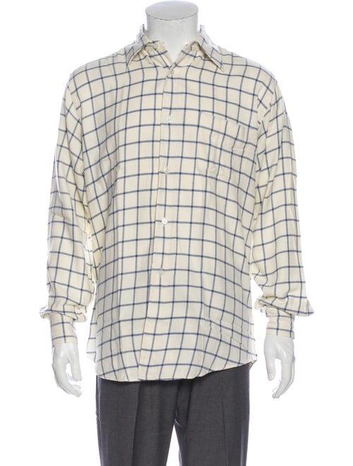 Hermès Printed Long Sleeve Dress Shirt
