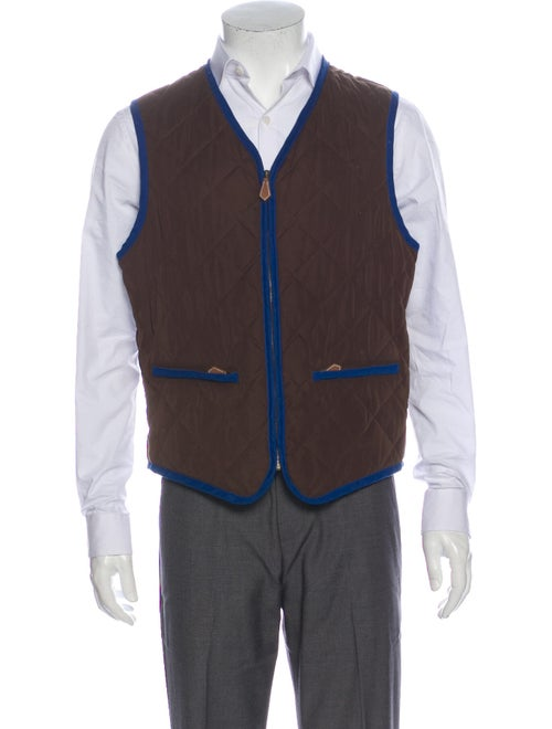 Hermès Quilted Vest Brown
