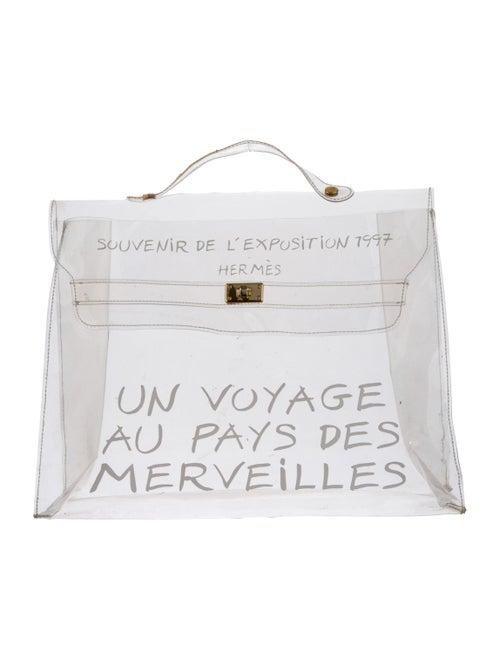 Hermès Vinyl Kelly Souvenir Bag Clear