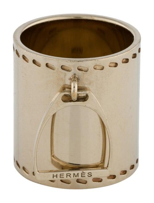 Hermès Etrier Scarf Ring Gold