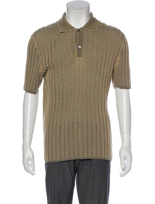 Hermès Striped Crew Neck Polo Shirt
