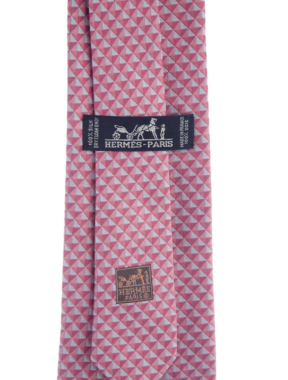Hermès Patterned Silk Tie pink - image 2