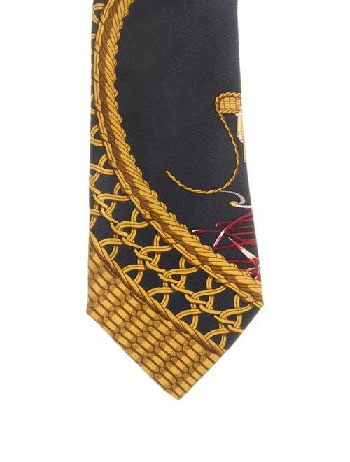 Hermès Abstract Printed Tie black