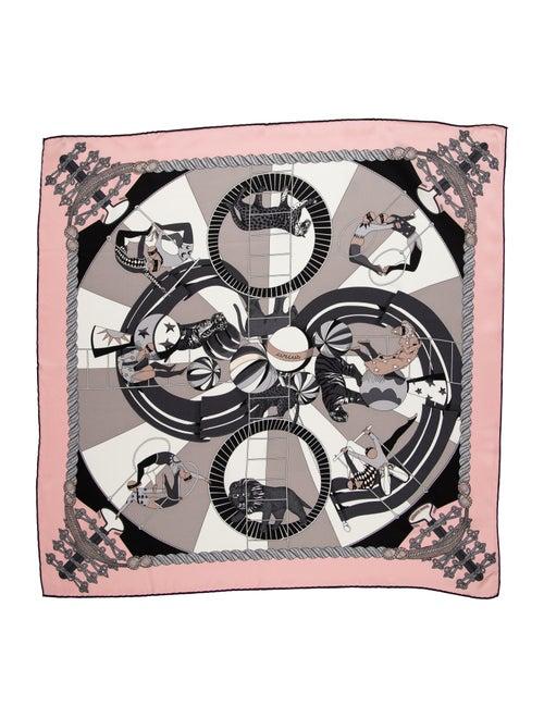 Hermès Circus 70cm Silk Scarf w/ Tags Pink