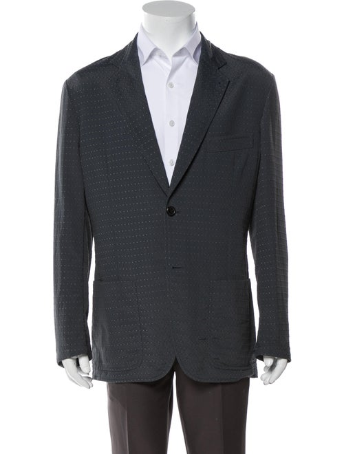 Hermès Printed Sport Coat Blue