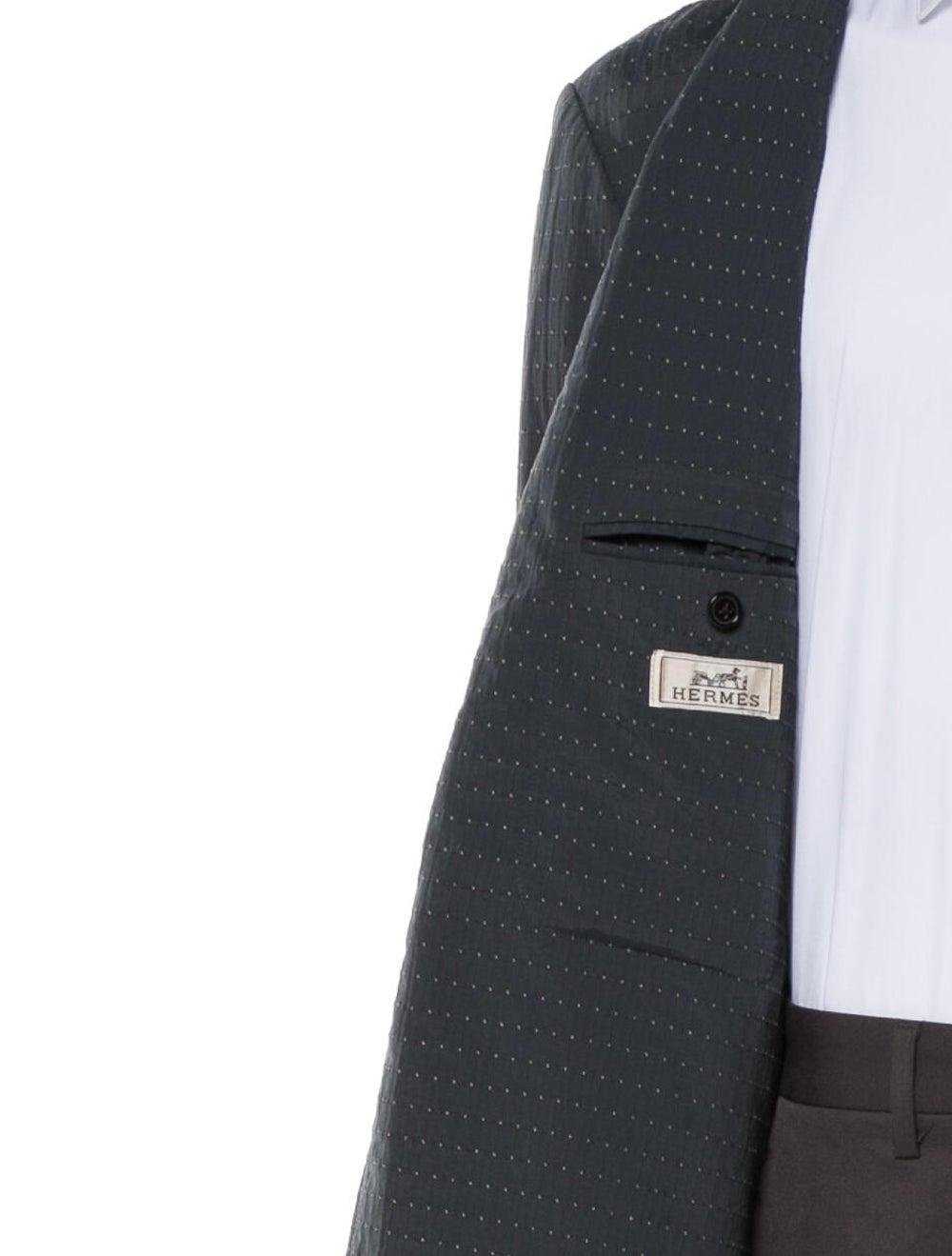Hermès Printed Sport Coat Blue - image 4