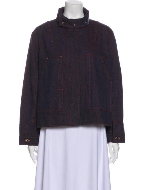 Hermès Plaid Print Denim Jacket Denim