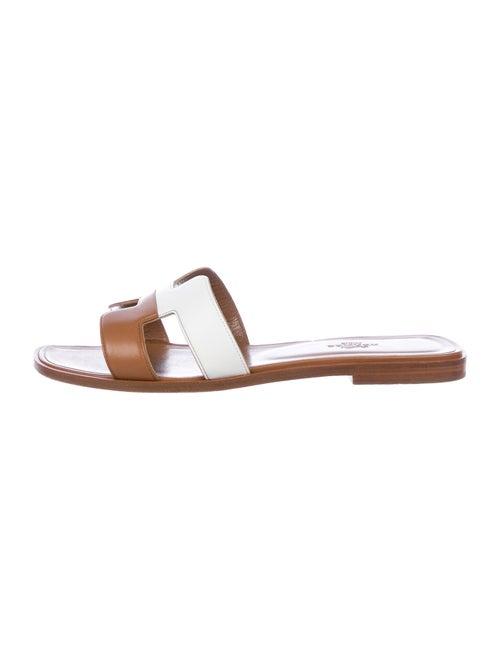Hermès Oran Leather Slides