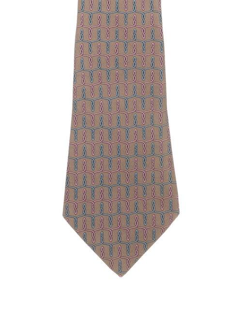 Hermès Printed Silk Tie grey
