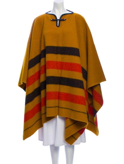 Hermès Striped Poncho Orange