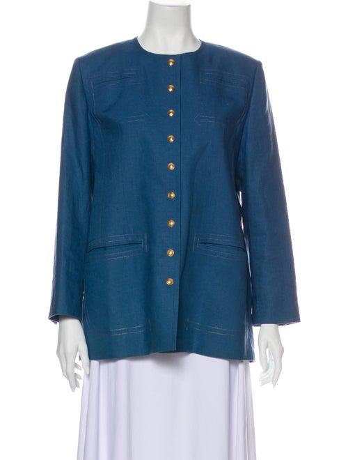 Hermès Linen Jacket Blue