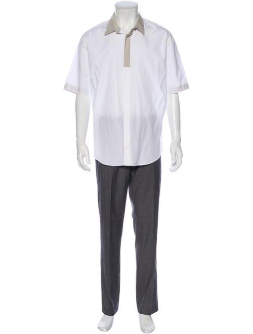 Hermès Short Sleeve Shirt White