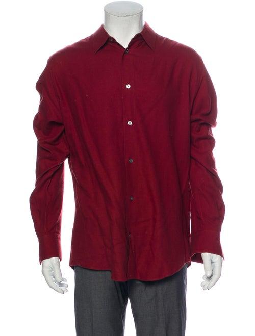 Hermès Long Sleeve Dress Shirt Red