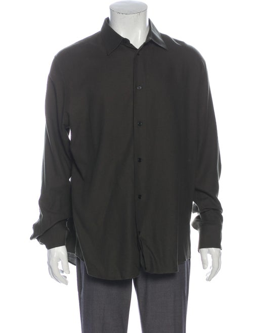 Hermès Long Sleeve Dress Shirt Green