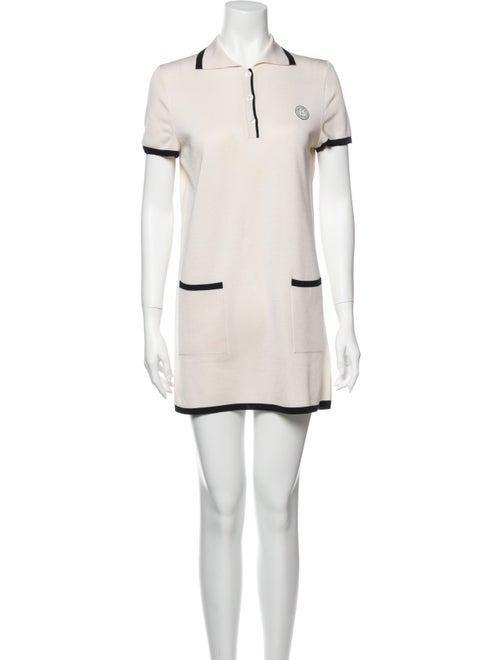 Hermès Silk Mini Dress White
