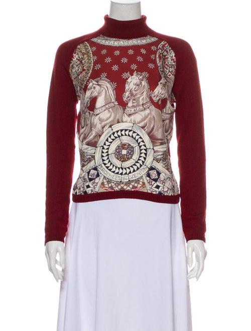 Hermès Silk Printed Sweater Red
