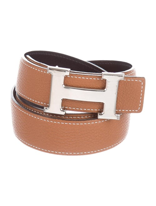 Hermès Reversible H 32mm Belt Kit Gold
