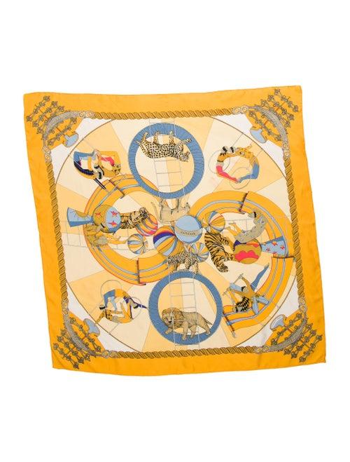 Hermès Circus Woven Scarf Yellow