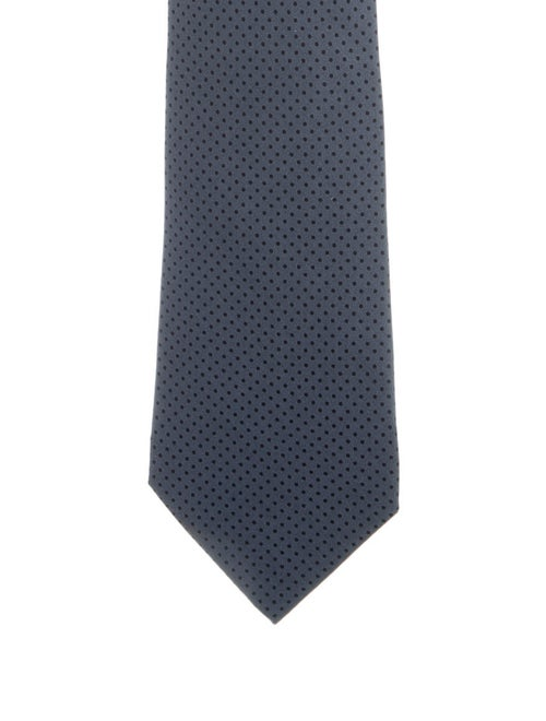 Hermès Polka Dot Silk Tie grey