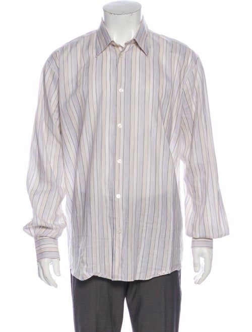 Hermès Linen Striped Dress Shirt