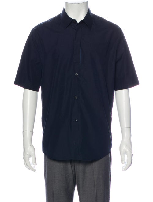 Hermès Short Sleeve Shirt Blue