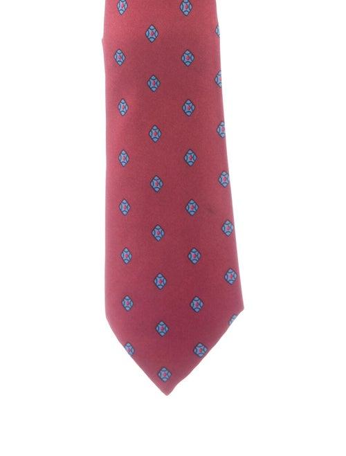 Hermès Silk Diamond Pattern Tie red