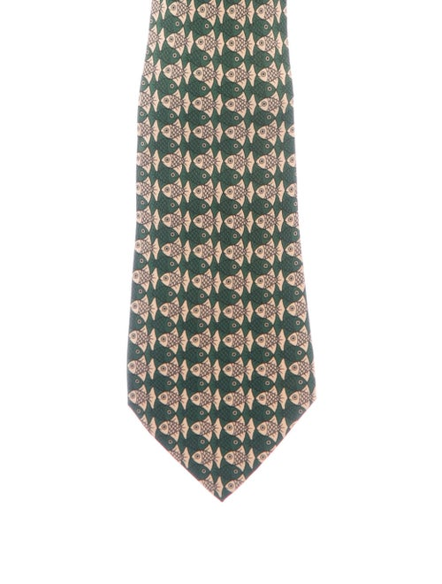 Hermès Silk Tie green