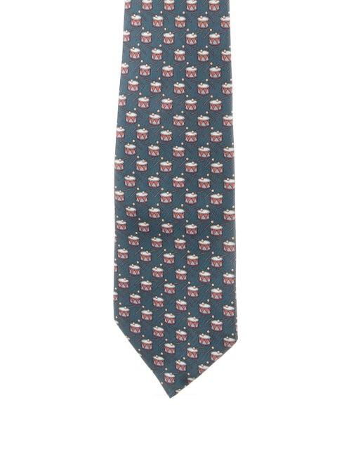 Hermès Silk Tie grey