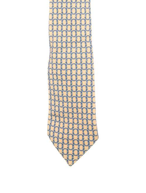Hermès Silk Tie yellow