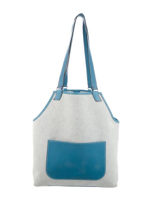 Hermès Toile Jardinier Tote Bleu
