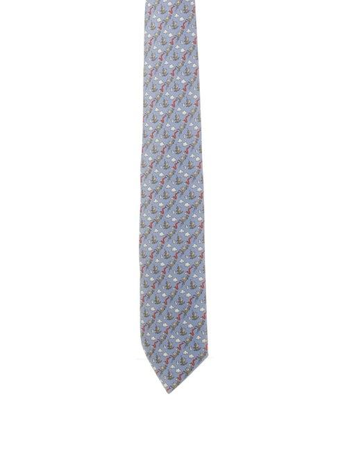 Hermès Silk Tie blue