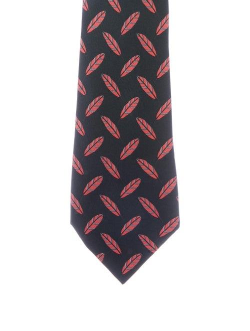 Hermès Men's Printed Silk Tie black