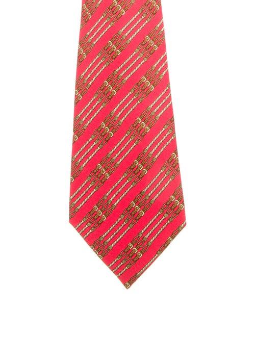 Hermès Silk Tie red